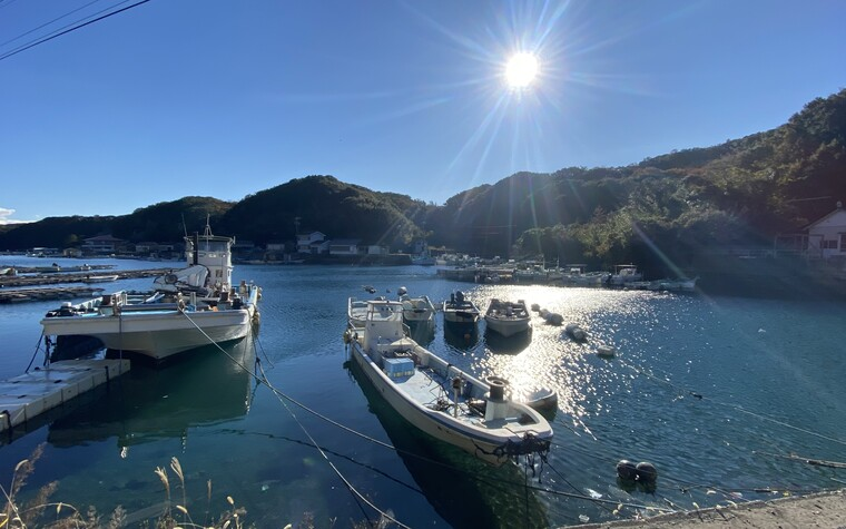 A view from the jetty in Ago Bay during a golf holiday in Mie prefecture
