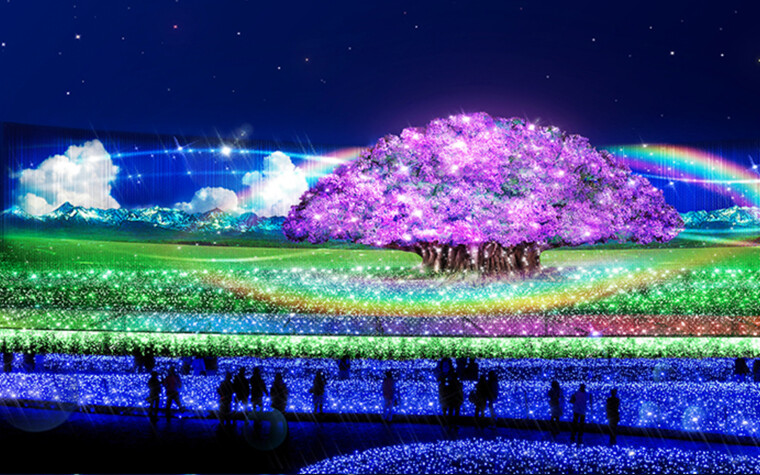 Nabana no Sato seasonal light display in Mie prefecture, Japan