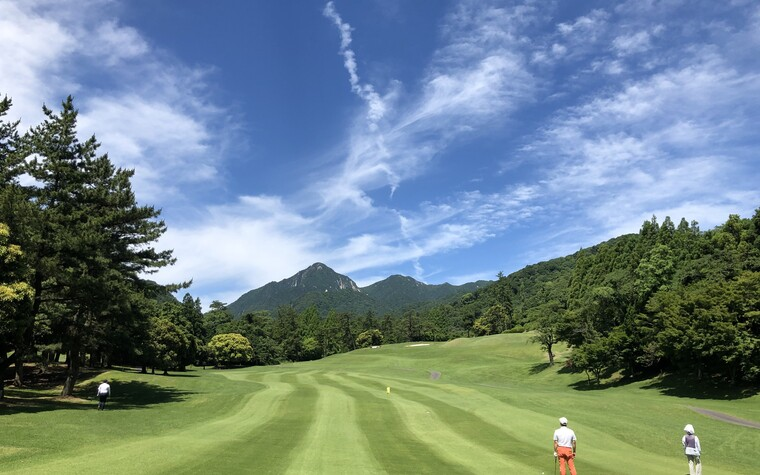 A wide view of Mie Country Club, a golf course in Mie prefecture, Japan