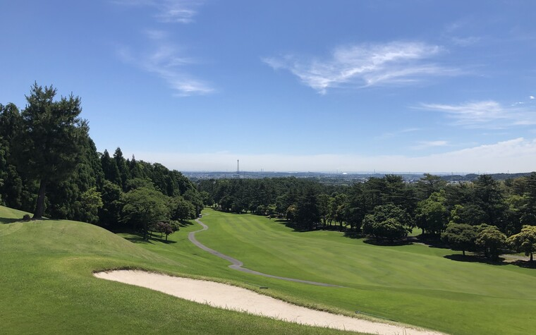 A view of Mie Country Club, a golf course in Mie prefecture, Japan